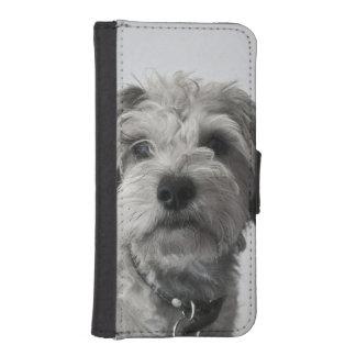 シュナウツァーの子犬 iPhoneSE/5/5sウォレットケース