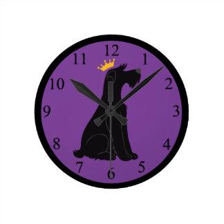 シュナウツァーの王子 ラウンド壁時計