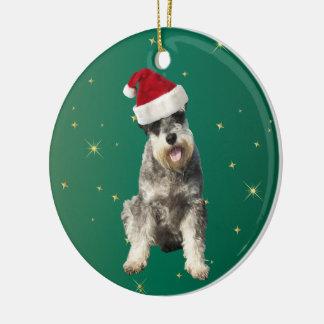 シュナウツァー小型犬のクリスマスの装飾のオーナメント セラミックオーナメント