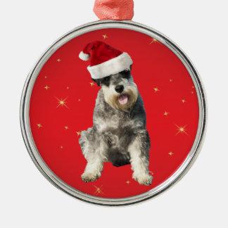 シュナウツァー小型犬のクリスマスの装飾のオーナメント メタルオーナメント