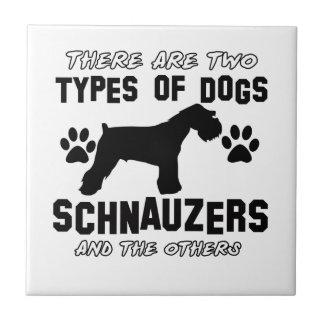 シュナウツァー犬のデザイン タイル