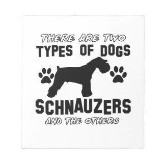 シュナウツァー犬のデザイン ノートパッド