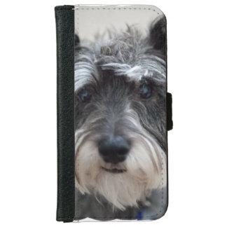 シュナウツァー犬 iPhone 6/6S ウォレットケース