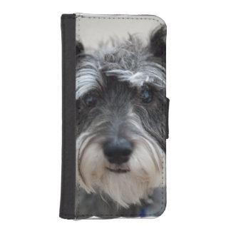 シュナウツァー犬 iPhoneSE/5/5sウォレットケース