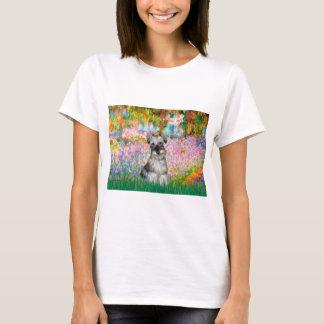 シュナウツァー1N -庭 Tシャツ