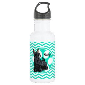 シュナウツァー; 水緑のシェブロン ウォーターボトル