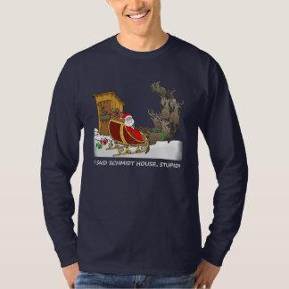 シュミツトの家のおもしろいなクリスマスのワイシャツ Tシャツ