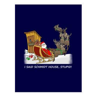 シュミツトの家のおもしろいなクリスマスの郵便はがき ポストカード