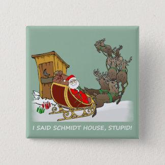 シュミツトの家のおもしろいなクリスマスボタン 5.1CM 正方形バッジ