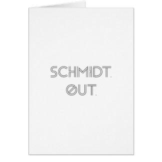 シュミツト。 。 挨拶状 カード
