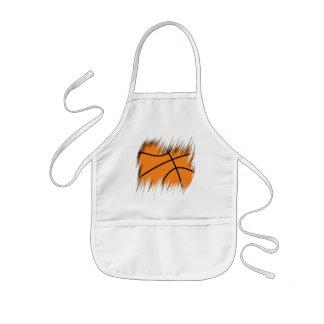 シュレッダーのバスケットボール 子供用エプロン