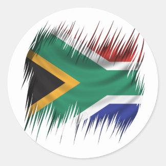 シュレッダーの南アフリカ共和国の旗 ラウンドシール