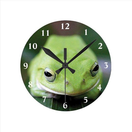 シュレーゲルアオガエルの掛け時計,No.02 ラウンド壁時計