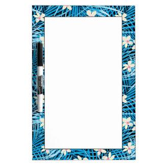 シュロの葉の青パターン ホワイトボード