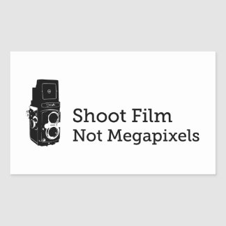 シュートのフィルムないMegapixels 長方形シール