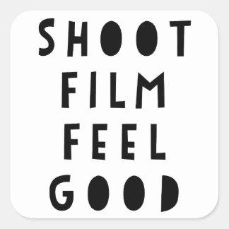 シュートのフィルムの爽快なステッカー スクエアシール