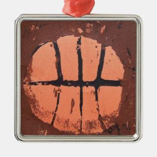 シュートMcHoopによるバスケットボールのLinoの芸術のプリント メタルオーナメント