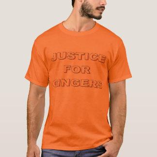 ショウガのティーのための正義 Tシャツ