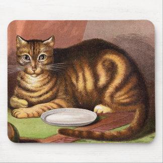 ショウガの虎猫猫のヴィンテージのイラストレーション マウスパッド