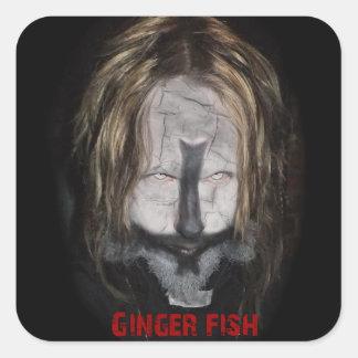 ショウガの魚の司祭のステッカー スクエアシール