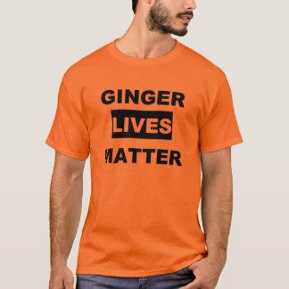 ショウガは問題住んでいます Tシャツ