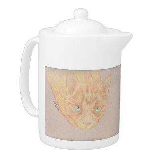 ショウガ猫のティーポット