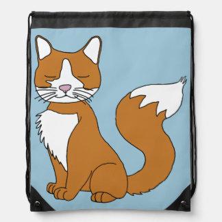 ショウガ猫のドローストリングバッグ ナップサック