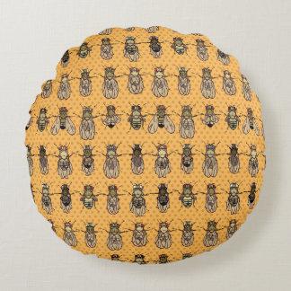 ショウジョウバエのミバエの遺伝学-突然変異体-蜜柑 ラウンドクッション