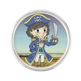 ショウ-折りえりピンバッジ海賊 ラペルピン