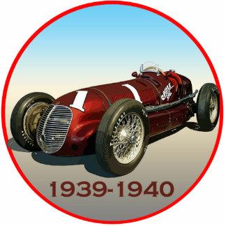 ショウMaserati 8CTF Indy車 写真彫刻(台付き)