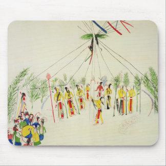 ショショーニ族の太陽踊り(綿モスリンの顔料) マウスパッド