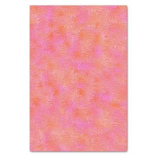ショッキングピンクおよびオレンジ羽のデザインのティッシュペーパー 薄葉紙