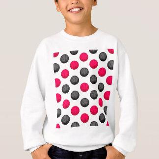 ショッキングピンクおよび灰色のバスケットボールパターン スウェットシャツ