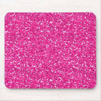 ショッキングピンクのきらめくのグリッター マウスパッド
