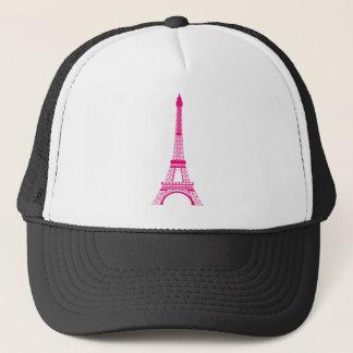 ショッキングピンクのエッフェル塔 キャップ