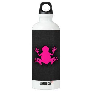 ショッキングピンクのカエル ウォーターボトル
