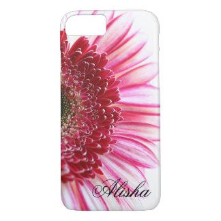 ショッキングピンクのガーベラのデイジーの花 iPhone 8/7ケース