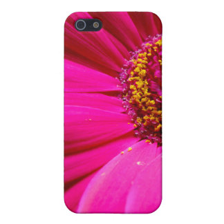 ショッキングピンクのガーベラのデイジー iPhone SE/5/5sケース