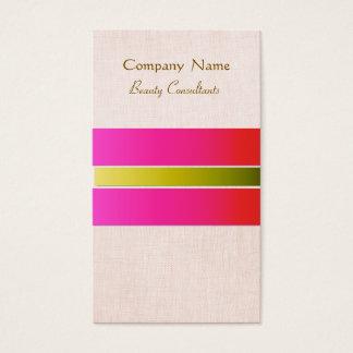 ショッキングピンクのガーリーで、フェミニンな美しいコンサルタント 名刺