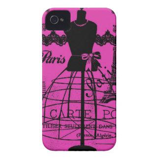 ショッキングピンクのガーリーなパリ Case-Mate iPhone 4 ケース