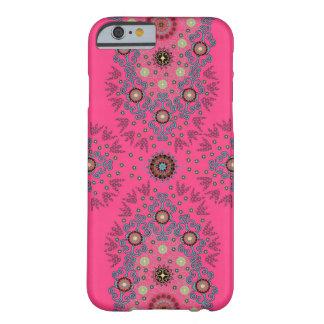 ショッキングピンクのガーリーな花のiPhone6ケース Barely There iPhone 6 ケース