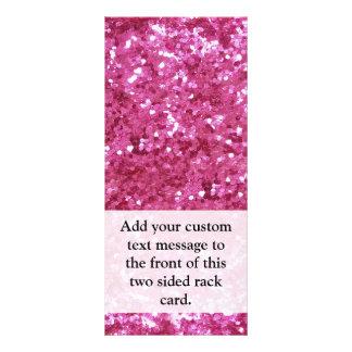 ショッキングピンクのグリッターの一見 ラックカードデザイン