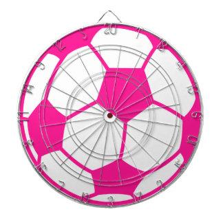 ショッキングピンクのサッカーボール ダーツボード