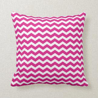 ショッキングピンクのシェブロンの枕 クッション