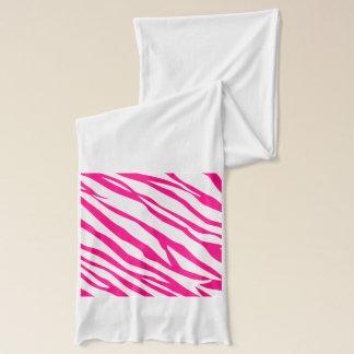ショッキングピンクのシマウマのプリントのスカーフ スカーフ
