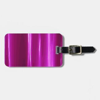ショッキングピンクのシンプルな設計 ラゲッジタグ
