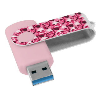 ショッキングピンクのスカル USBフラッシュドライブ