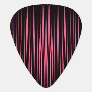 ショッキングピンクのタイル(抽象美術のデザイン)の~ ギターピック