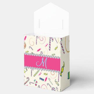ショッキングピンクのダイヤモンドのキャンディ・ケーンのモノグラム フェイバーボックス