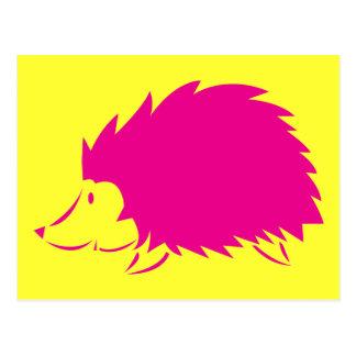 ショッキングピンクのハリネズミ ポストカード